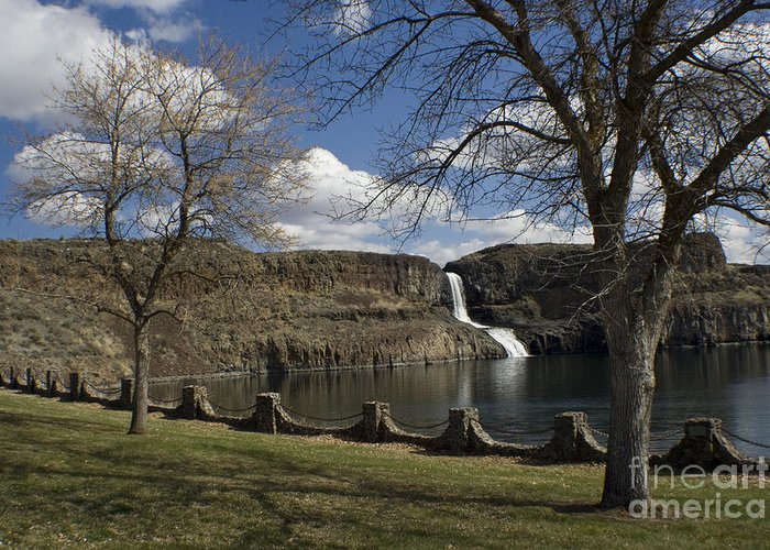 Summer Greeting Card featuring the photograph Summer Falls by Idaho Scenic Images Linda Lantzy