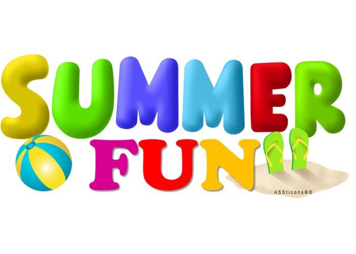 Summer Greeting Card featuring the digital art Summer Fun01a by ASSticons