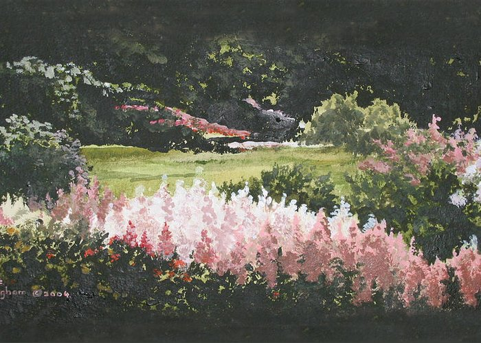 Nature Greeting Card featuring the painting Summer Garden by Diane Ellingham
