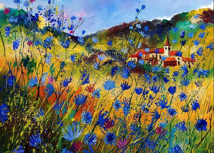 Flowers Greeting Card featuring the painting Summer Glory by Pol Ledent