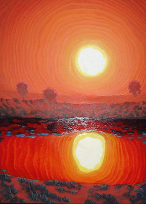Sun Greeting Card featuring the painting Summer Heat by Blaine Filthaut