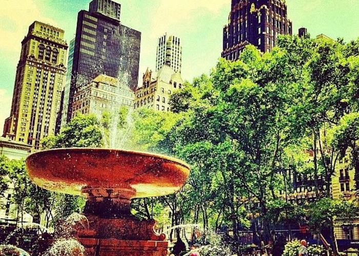 Nyc Greeting Card featuring the photograph Summer in Bryant Park by Luke Kingma