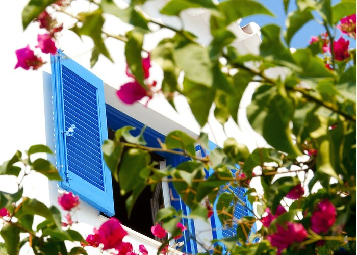 Summer Greeting Card featuring the photograph Summer In Greece by Ilias Kordelakos