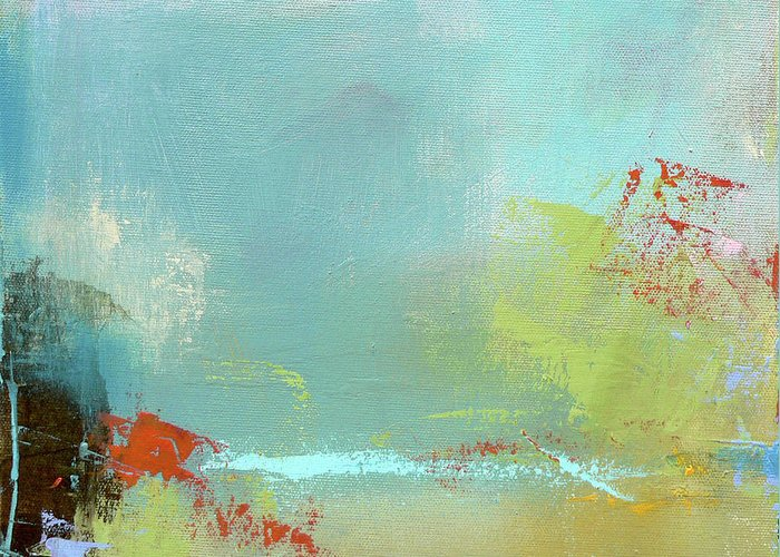 Summer Greeting Card featuring the painting Summer Landscape by Jacquie Gouveia