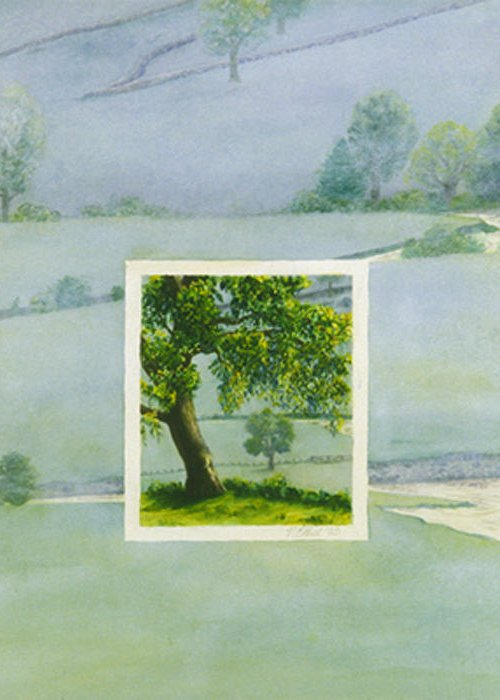 Summer Greeting Card featuring the painting Summer by Nancy Ethiel