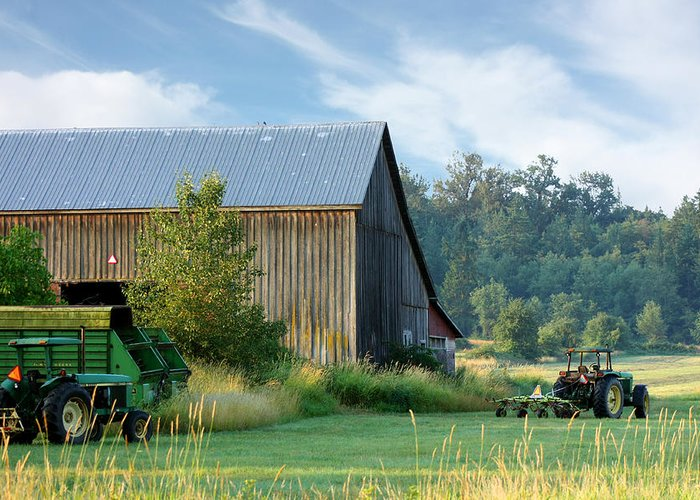Landscape Greeting Card featuring the photograph Summer On The Farm by Barbara White