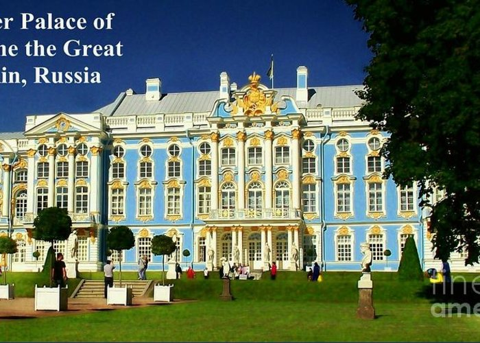 Summer Palace Greeting Card featuring the photograph Summer Palace Of Catherine The Great by James Carr
