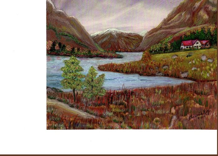 River Greeting Card featuring the painting Summer Retreat by Shawnah Roy