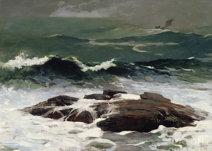Summer Squall Greeting Card featuring the painting Summer Squall by Winslow Homer