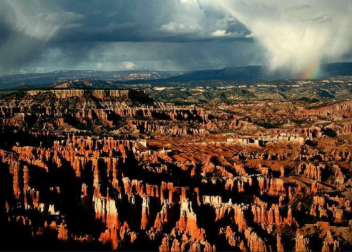 Bryce Greeting Card featuring the photograph Summer Storm At Bryce Canyon National Park by Jetson Nguyen