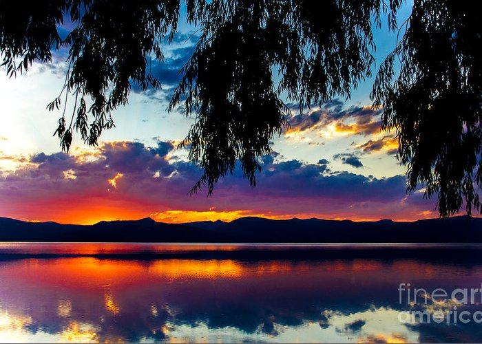 Christians Greeting Card featuring the photograph Sunset At Agency Lake, Oregon by Tirza Roring
