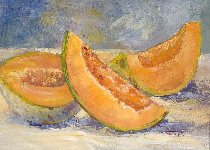 Fruit Greeting Card featuring the painting Summer Sweet by Jimmie Trotter