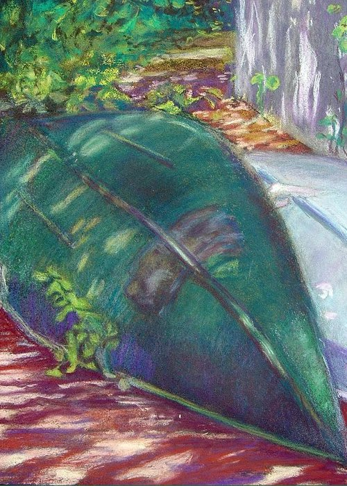 Summer Greeting Card featuring the pastel Summerime Overturned by Katherine Berlin