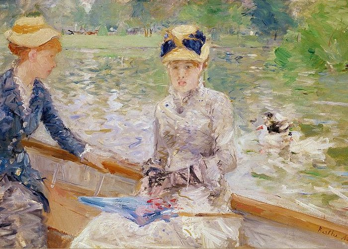 Summer Greeting Card featuring the painting Summers Day by Berthe Morisot