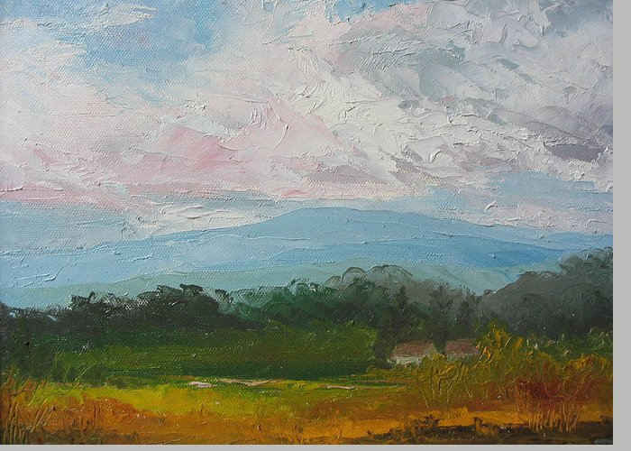 Landscape Greeting Card featuring the painting Summertime by Belinda Consten