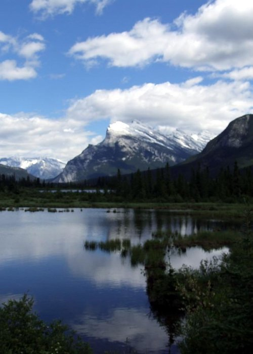 Landscape Greeting Card featuring the photograph Summertime In Vermillion Lakes by Tiffany Vest