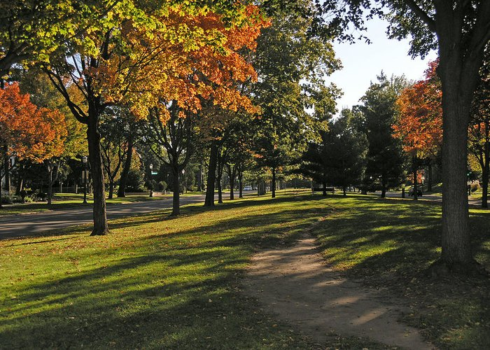 Minnesota Greeting Card featuring the photograph Summit Avenue In The Fall by Janis Beauchamp