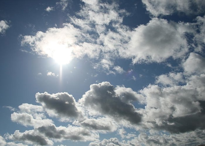 Sky Greeting Card featuring the photograph Sun Clouds by Joshua Sunday
