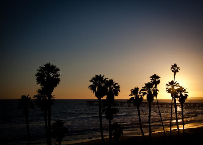 San Clemente Greeting Card featuring the photograph Sun Going Down In California by Ralf Kaiser