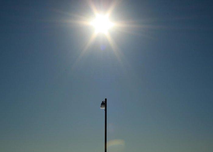 Sun Greeting Card featuring the photograph Sun Post by Joshua Sunday