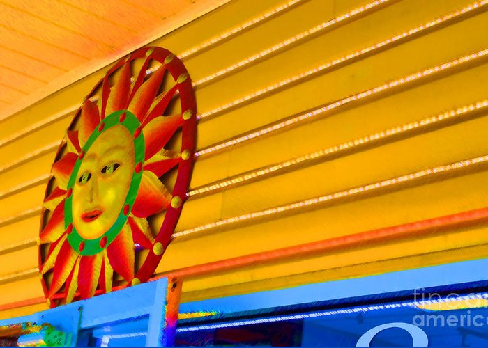 Rehoboth Greeting Card featuring the photograph Sun Shopping by Jost Houk