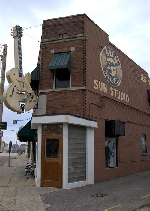 Sun Studio Greeting Card featuring the photograph Sun Studio Memphis Tennessee by Wayne Higgs