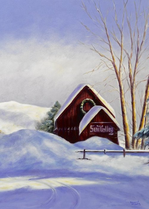 Landscape Greeting Card featuring the painting Sun Valley 2 by Shannon Grissom