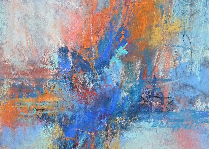 Abstract Paintings Greeting Card featuring the painting Sunburn by Becky Chappell