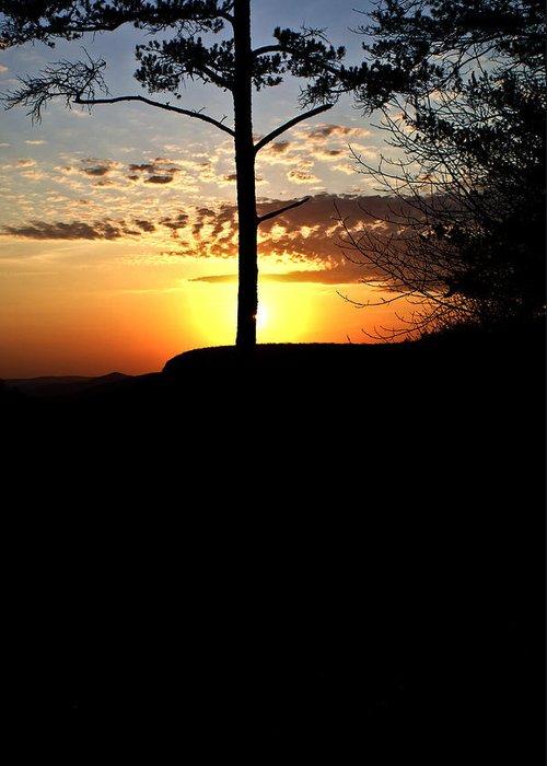 Sunburst Greeting Card featuring the photograph Sunburst Sunset by Douglas Barnett