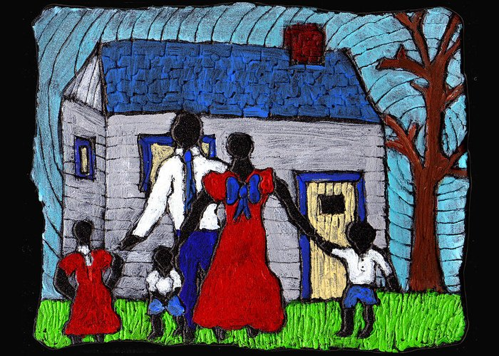 Family Greeting Card featuring the painting Sunday Morning Finest by Wayne Potrafka