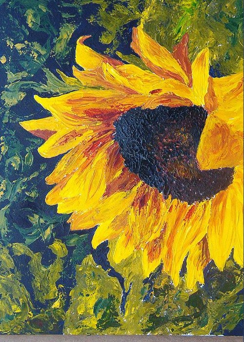 Greeting Card featuring the painting Sunflower by Tami Booher
