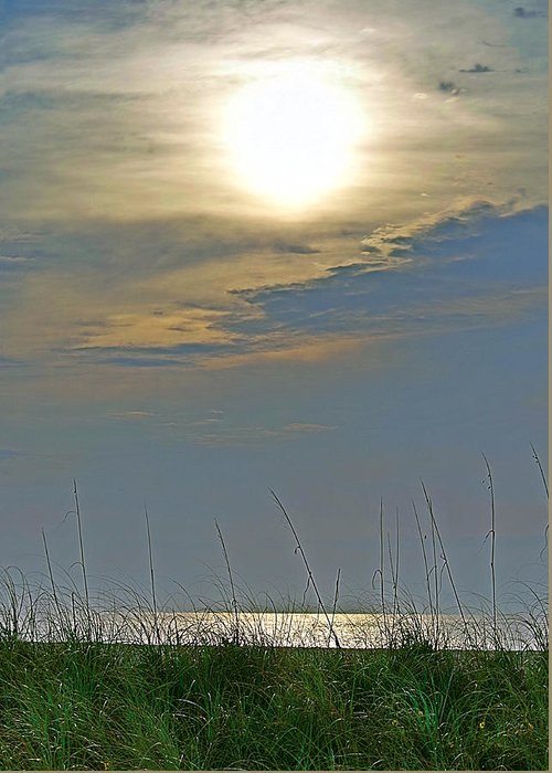 Fort Pierce Greeting Card featuring the photograph Sunglare by Bruce Roker