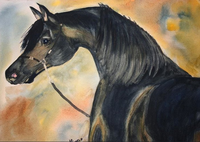 Horses Greeting Card featuring the painting Sunlit Splendor by Michele Turney