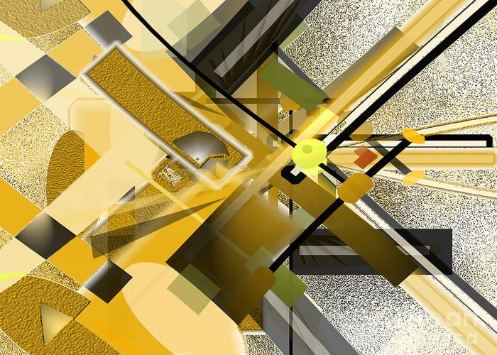 Sunny Greeting Card featuring the digital art Sunny City by Jo Baby