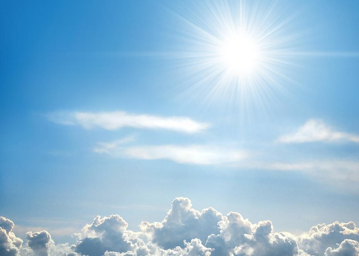 Background Greeting Card featuring the photograph Sunny Sky by Carlos Caetano