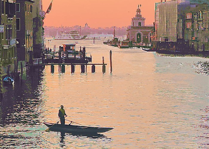 Venice Greeting Card featuring the photograph Sunrise - Venice by Robert Bissett