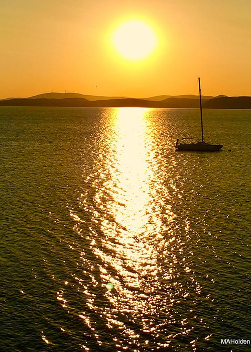 Sunrise Greeting Card featuring the photograph Sunrise 6 8 17 Malletts Bay by Mark Holden