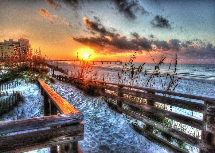 Alabama Photographer Greeting Card featuring the digital art Sunrise At Cotton Bayou by Michael Thomas