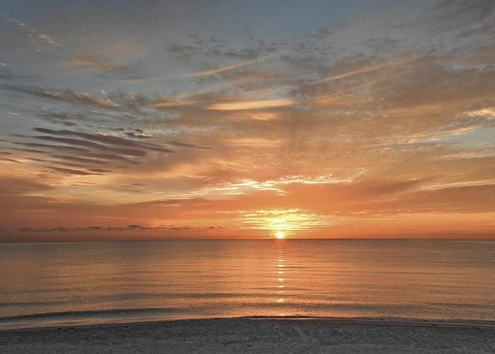 Sunrise Greeting Card featuring the photograph Sunrise At Hollywood Beach by Tony Ambrosio