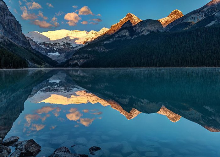 Canada Greeting Card featuring the photograph Sunrise At Lake Louise, Banff National Park, Alberta, Canada by Pierre Leclerc Photography