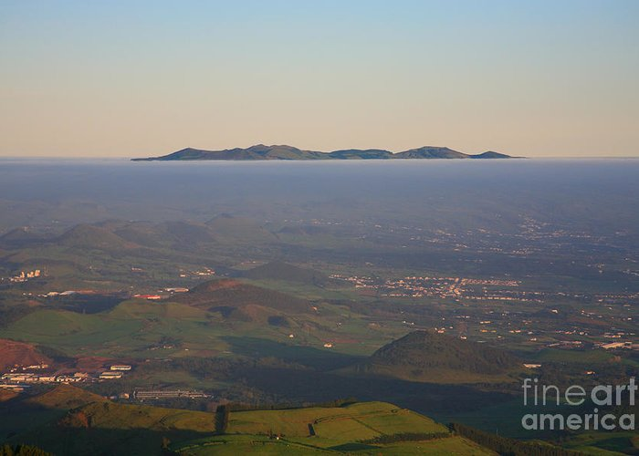 Fog Greeting Card featuring the photograph Sunrise At Sao Miguel Island by Gaspar Avila
