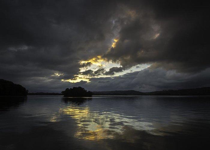 Lake Greeting Card featuring the photograph Sunrise At Watts Bar Lake by Greg Thiemeyer