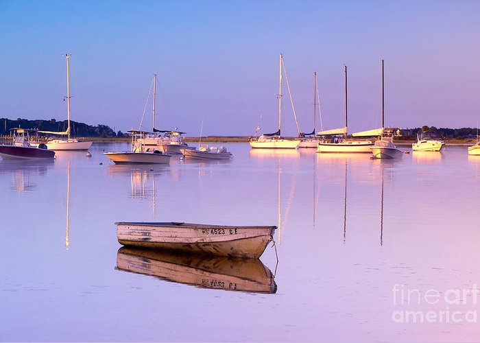 Sunrise Greeting Card featuring the photograph Sunrise At West Bay Osterville Cape Cod by Matt Suess