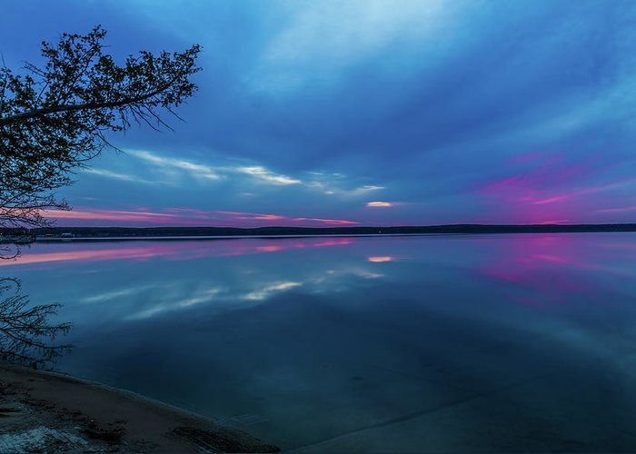 Sunrise Greeting Card featuring the photograph Sunrise Higgins Lake by Joe Holley