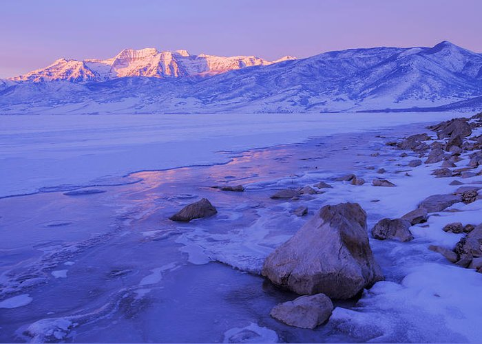 Lake Greeting Card featuring the photograph Sunrise Ice Reflection by Chad Dutson