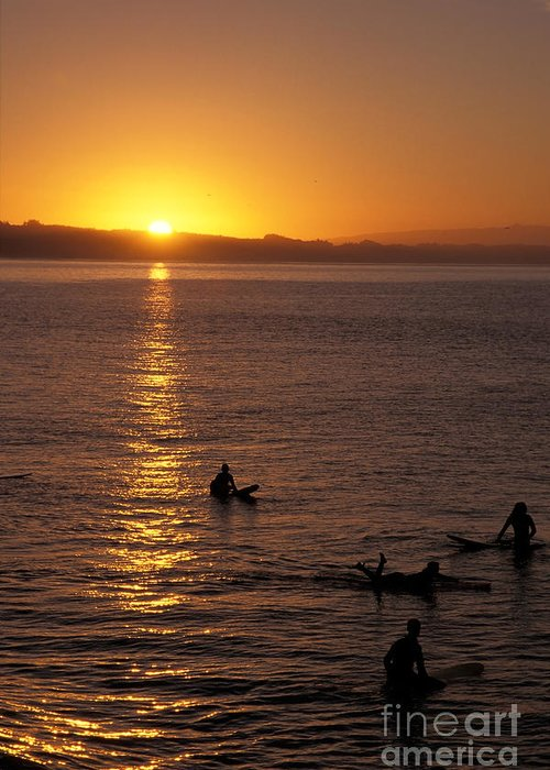 California Greeting Card featuring the photograph Sunrise In Capitola by Stan and Anne Foster