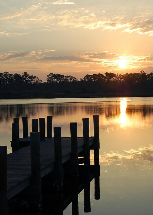 Surise Greeting Card featuring the photograph Sunrise In Grayton Beach II by Robert Meanor