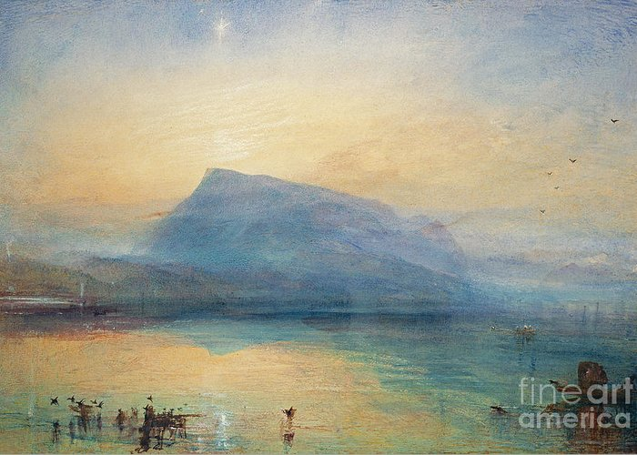 The Greeting Card featuring the painting Sunrise by Joseph Mallord William Turner