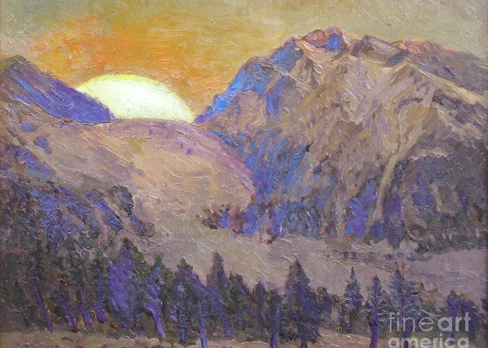 Sunrise Greeting Card featuring the painting Sunrise by Meihua Lu
