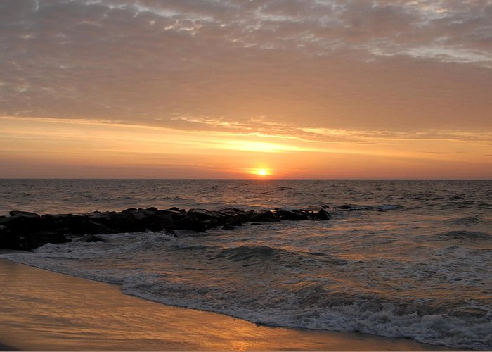 Ocean Sunrise Greeting Card featuring the photograph Sunrise Ocean 74 by Joyce StJames